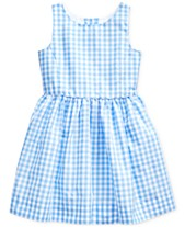 561e2ba0f46 Polo Ralph Lauren Little Girls' Checkered Fit-and-Flare Dress, Created for