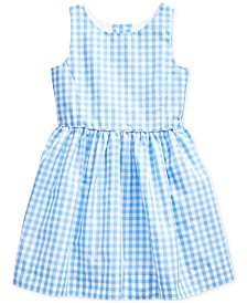 Polo Ralph Lauren Little Girls' Checkered Fit-and-Flare Dress, Created for Macy's
