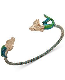 lonna & lilly Gold-Tone Chain & Thread-Wrapped Mermaid Cuff Bracelet