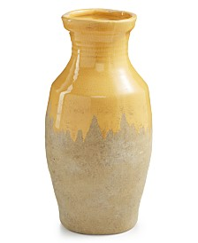 Home Essentials La Dolce Vita Small Yellow Ceramic Vase