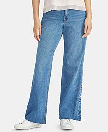 RACHEL Rachel Roy Snap-Side Raw-Hem Jeans