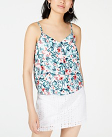 Maison Jules Floral-Print Blouse, Created for Macy's