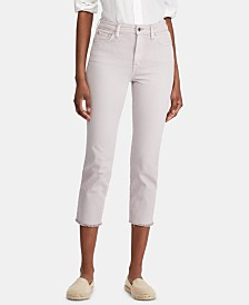 Lauren Ralph Lauren Petite Regal Straight Crop High-Rise Jeans