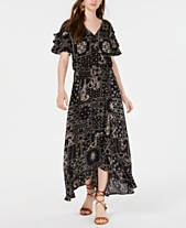b4c68bee3e American Rag Juniors' Printed Wrap-Front Maxi Dress, Created for Macy's