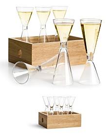 Sagaform Shot Glass Set with Storage Box, 6 Glasses