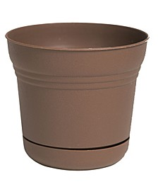 """10"""" Saturn Planter with Saucer"""