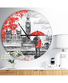 Designart Oversized French Country Round Metal Wall Clock