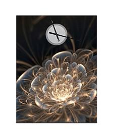 Designart Oversized Floral Metal Wall Clock