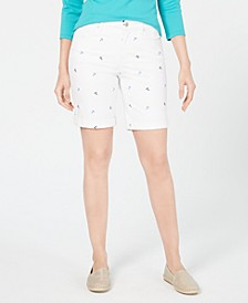 Embroidered Tummy-Control Shorts, Created for Macy's
