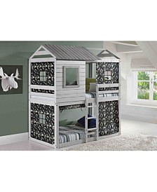 Twin Loft Bed Deer Blind Bed with Camo Tent Kit