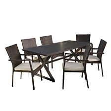 Adina Outdoor 7-Pc. Dining Set, Quick Ship