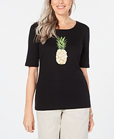 Cotton Pineapple Graphic-Print T-Shirt, Created for Macy's