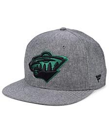Authentic NHL Headwear Minnesota Wild Chambray Emblem Snapback Cap