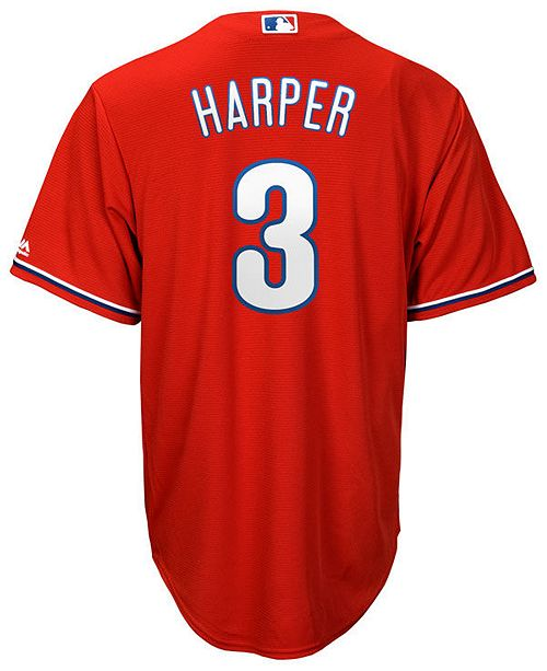182246bc48f2a ... Majestic Men s Bryce Harper Philadelphia Phillies Player Replica Cool  Base Jersey ...