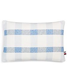 "Crosshatch 12"" x 18"" Decorative Pillow"