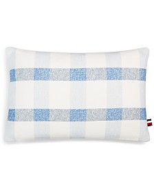 "Tommy Hilfiger Crosshatch 12"" x 18"" Decorative Pillow"