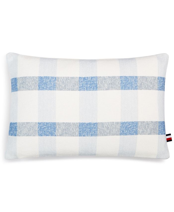 "Tommy Hilfiger - Crosshatch 12"" x 18"" Decorative Pillow"