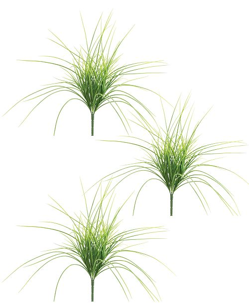 Napco Light Green Grass Bush, Set of 3
