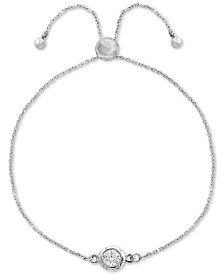 EFFY® Diamond Bezel Bolo Bracelet (1/6 ct. t.w.) in 14k White Gold