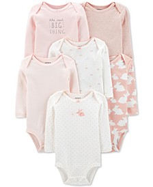 Baby Girls 6-pack Printed Cotton Bodysuits