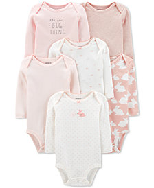 Carter's Baby Girls 6-pack Printed Cotton Bodysuits
