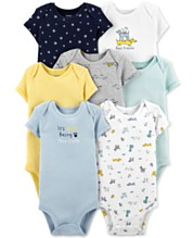 3296edd4a5623 Carter's Baby Boys 7-Pack Printed Cotton Bodysuits