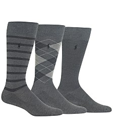 Polo Ralph Lauren Men's Three-Pack Variety Socks