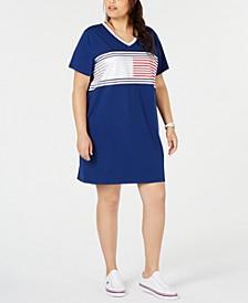 Plus Size Colorblocked V-Neck Dress