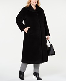 Jones New York Plus Size Wing-Collar Maxi Coat
