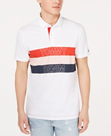 Tommy Hilfiger Men's Chest Stripe Logo Polo