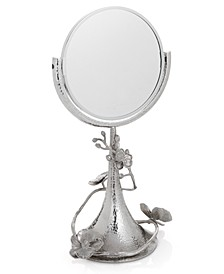White Orchid Vanity Mirror