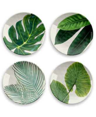 Amazon Floral Salad Plate, Set of 4