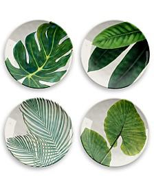 Tarhong Amazon Floral Salad Plate, Set of 4