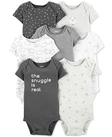Baby Boys or Girls 7-Pack Printed Cotton Bodysuits
