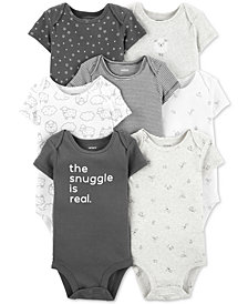 Carter's Baby Boys or Girls 7-Pack Printed Cotton Bodysuits