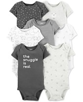 14d760525 Carter's Baby Boys or Girls 7-Pack Printed Cotton Bodysuits