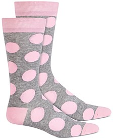 Men's Oversized-Dot Socks, Created for Macy's