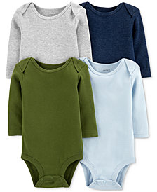 Carter's Baby Boys 4-Pack Long-Sleeve Bodysuits