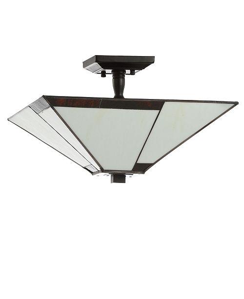 "JONATHAN Y Julian 15.7"" Tiffany-Style LED Semi-Flush Mount"
