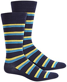 Men's Multi-Stripe Socks, Created for Macy's
