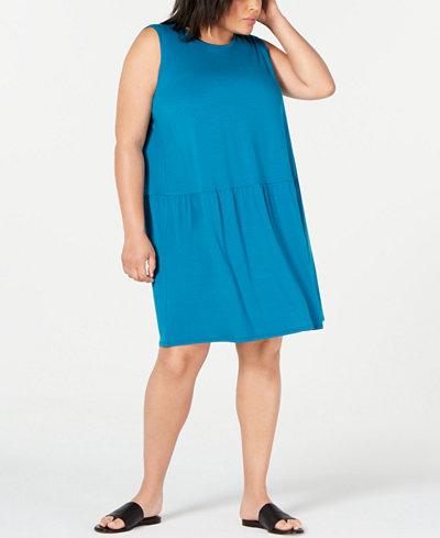 Eileen Fisher Plus Size Drop-Waist Shift Dress