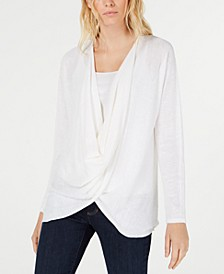 Organic Draped Sweater