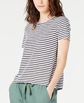 53931b5a Eileen Fisher Organic Linen Striped T-Shirt