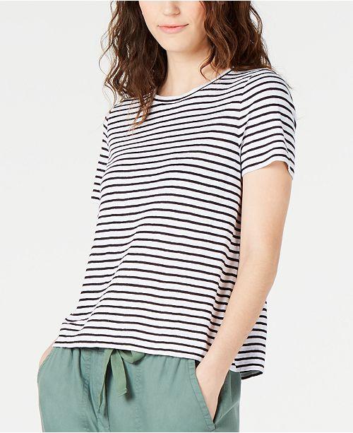 Eileen Fisher Organic Linen Striped T-Shirt