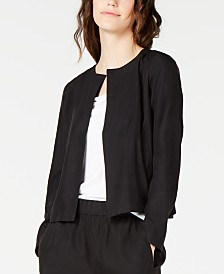 Eileen Fisher Open-Front Tencel Jacket, Regular & Petite