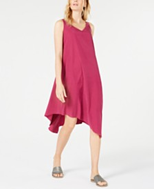 Eileen Fisher Tencel® Blend Asymmetrical Dress, Regular & Petite