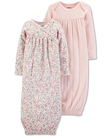 Baby Girls 2-Pack Sleep Gowns