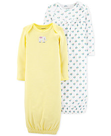 Carter's Baby Girls 2-Pack Printed Cotton Sleep Gowns