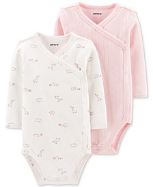 Baby Girls 2-Pack Side-Snap Printed Bodysuits