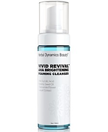 Herbal Dynamics Beauty Vivid Revival Aha Brightening Foaming Cleanser